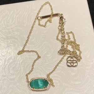 Kendra Scott Elisa Gold Pendant Necklace - Emerald